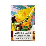 Well Behaved Women Rectangle Magnet