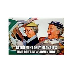 Retirement Adventure Rectangle Magnet