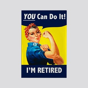 Rosie the Retired Riveter Rectangle Magnet