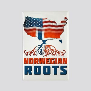 American Norwegian Roots Rectangle Magnet