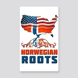 American Norwegian Roots Rectangle Car Magnet