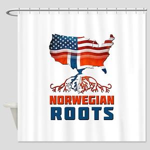 American Norwegian Roots Shower Curtain