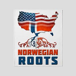 American Norwegian Roots Throw Blanket