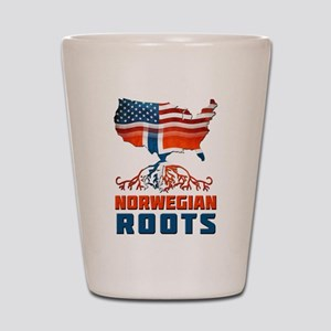 American Norwegian Roots Shot Glass