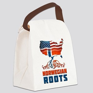 American Norwegian Roots Canvas Lunch Bag
