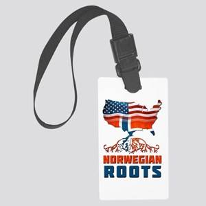 American Norwegian Roots Luggage Tag