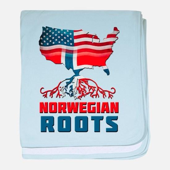 American Norwegian Roots baby blanket