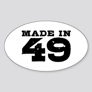 Made In 49 Sticker (Oval)