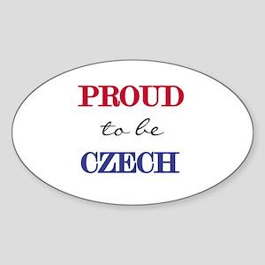 Czech Pride Oval Sticker