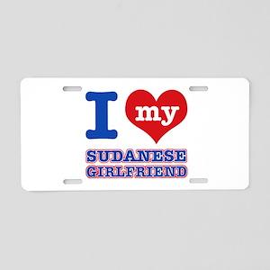 I love my Sudanese Boyfriend Aluminum License Plat