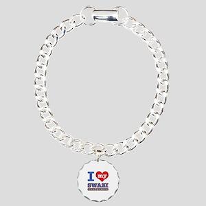 I love my Swazi Boyfriend Charm Bracelet, One Char