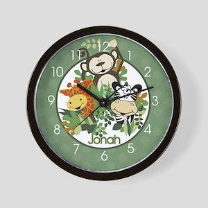Zoo Crew Jungle Wall Clock Personalized Wall Clock