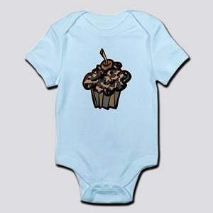 Camo Camouflage Cupcake Infant Bodysuit