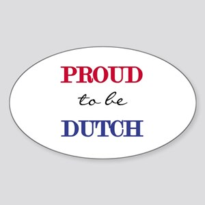 Dutch Pride Oval Sticker