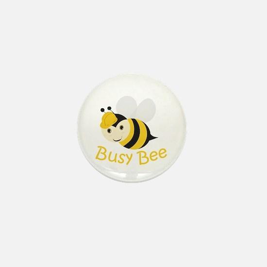 Busy Bee Mini Button
