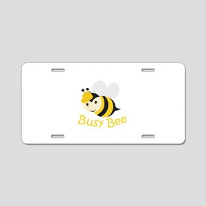 Busy Bee Aluminum License Plate