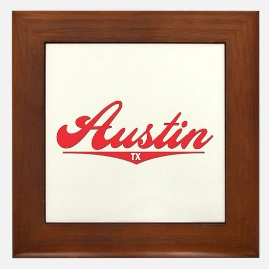 Austin TX Framed Tile
