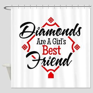 Diamonds BR Shower Curtain