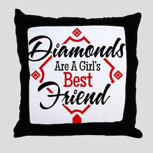 Diamonds BR Throw Pillow
