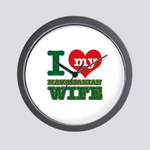 I love my Mauritanian wife Wall Clock