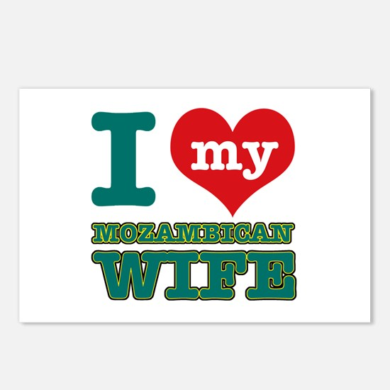I love my Mozambican wife Postcards (Package of 8)