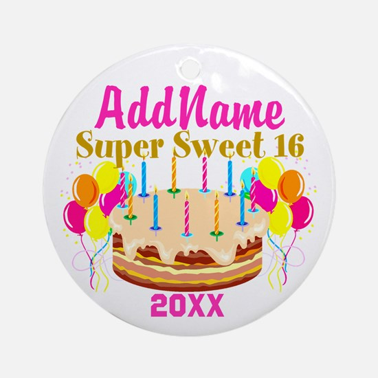 16TH BIRTHDAY Ornament (Round)