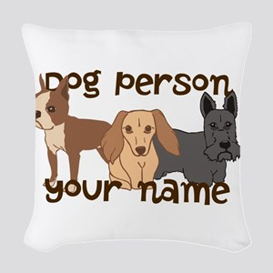 Custom Personalized Dog Person Woven Throw Pillow