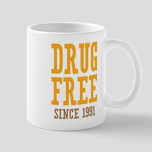 Drug Free Since 1991 Mug