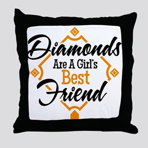 Diamonds BG Throw Pillow