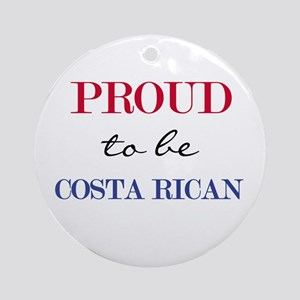 Costa Rican Pride Ornament (Round)