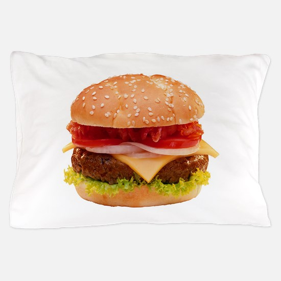 yummy cheeseburger photo Pillow Case