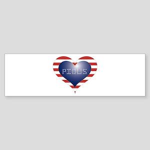 PIOUS HEART Sticker (Bumper)