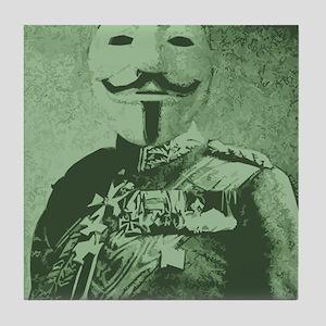 Vintage mask man Tile Coaster