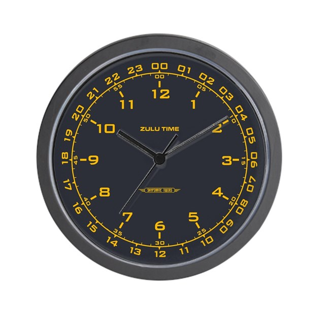 Zulu Time Military Wall Clock By Scifinow