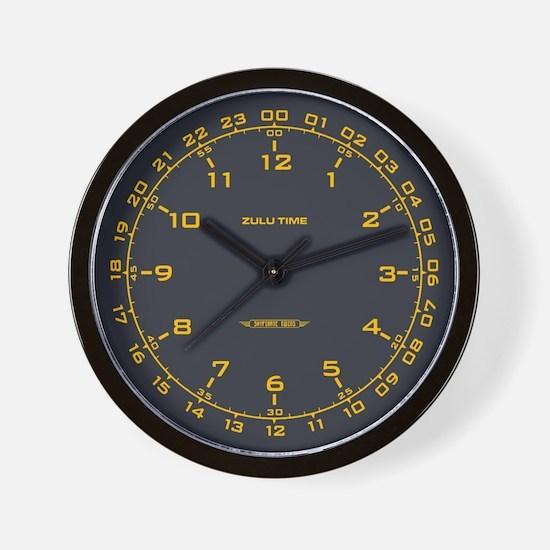 Zulu Time Military Wall Clock