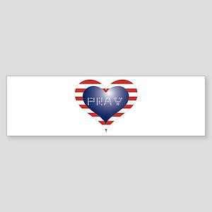 PRAY HEART Sticker (Bumper)