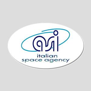 ASI - Italian Space Agency 20x12 Oval Wall Decal
