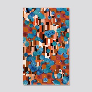 Klimtified! - Rust/Turquoise 20x12 Wall Decal