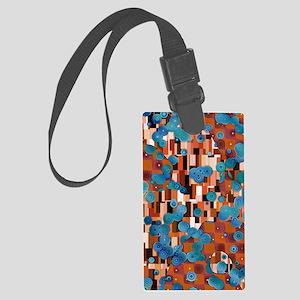 Klimtified! - Rust/Turquoise Large Luggage Tag
