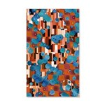 Klimtified! - Rust/Turquoise 35x21 Wall Decal