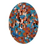Klimtified! - Rust/Turquoise Ornament (Oval)