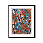 Klimtified! - Rust/Turquoise Framed Panel Print
