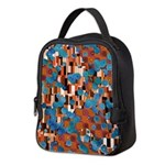 Klimtified! - Rust/Turquoise Neoprene Lunch Bag