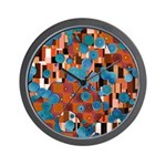 Klimtified! - Rust/Turquoise Wall Clock