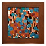 Klimtified! - Rust/Turquoise Framed Tile