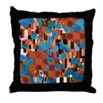 Klimtified! - Rust/Turquoise Throw Pillow