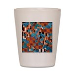Klimtified! - Rust/Turquoise Shot Glass