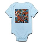 Klimtified! - Rust/Turquoise Infant Bodysuit
