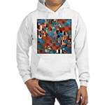 Klimtified! - Rust/Turquoise Hooded Sweatshirt