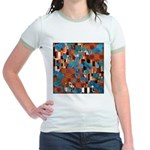 Klimtified! - Rust/Turquoise Jr. Ringer T-Shirt